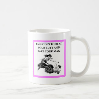 catfight classic white coffee mug