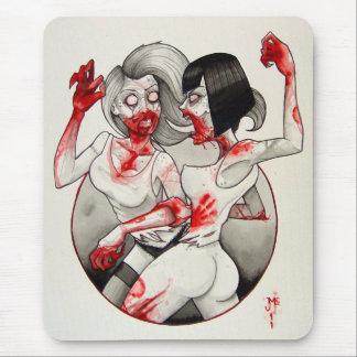 ¡ Catfight del zombi Alfombrilla De Raton