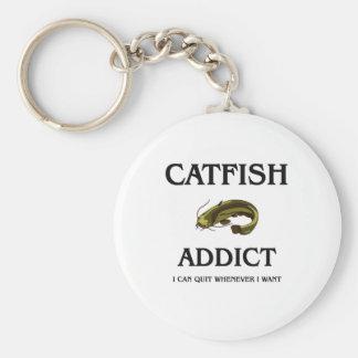 Catfish Addict Keychain