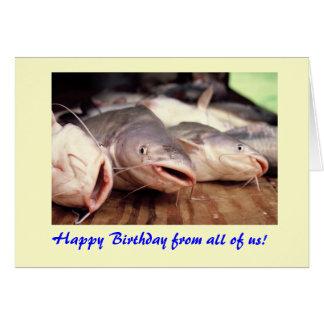 Catfish Birthday Card