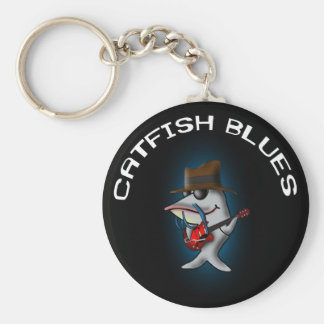 Catfish Blues Basic Round Button Keychain