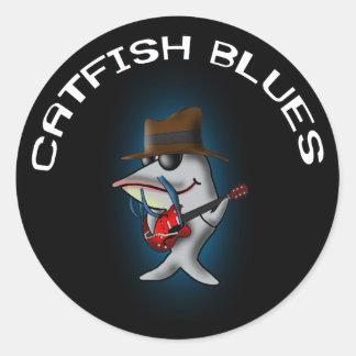 Catfish Blues Classic Round Sticker