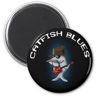 Catfish Blues 2 Inch Round Magnet