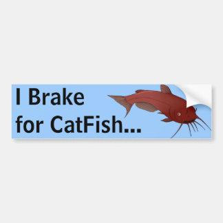 CatFish Brake Break Car Bumper Sticker