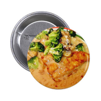 Catfish Broccoli Piccata Food Cooking Dinner Button