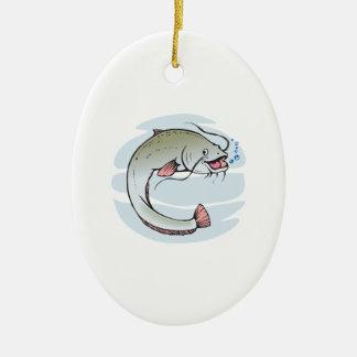 Catfish Ceramic Ornament