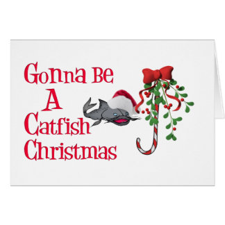 Catfish Funny Christmas Card