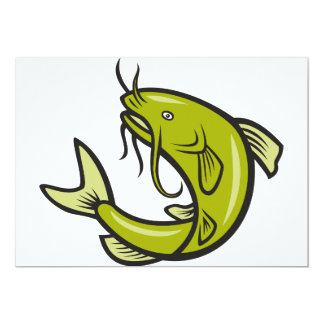 "Catfish Invitations 5"" X 7"" Invitation Card"
