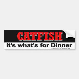 Catfish it's what's for dinner Bumper Sticker Car Bumper Sticker