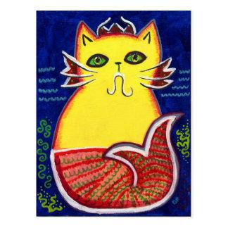 Catfish Kitty Postcard