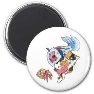 CatFish - Look Out! 2 Inch Round Magnet