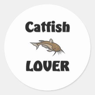 Catfish Lover Classic Round Sticker