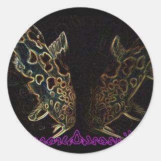 Catfish mirrored glowedge sticker