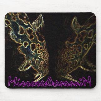 Catfish mirrored image mousepad