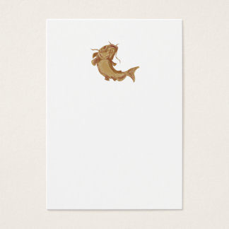 Catfish Mud Cat Going Up Drawing Business Card