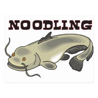 Catfish Noodling Postcard