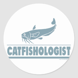 Catfish -ologist - Fishing, Cooking Round Stickers
