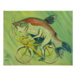 Catfish on a Bicycle Poster
