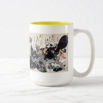 Catfish picture (catfish obtaining) Two-Tone coffee mug