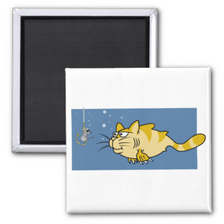 Catfish Pun 2 Inch Square Magnet
