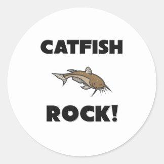 Catfish Rock Classic Round Sticker