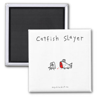 Catfish Slayer 2 Inch Square Magnet