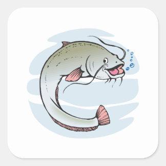 Catfish Square Sticker
