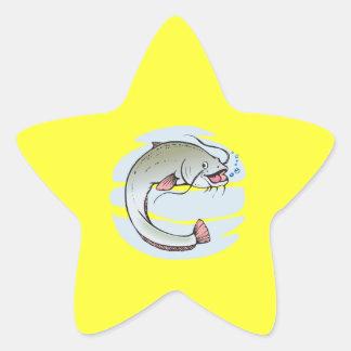 Catfish Star Sticker