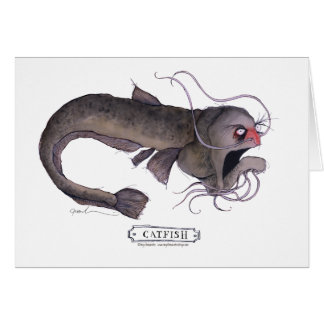 Catfish, tony fernandes greeting card