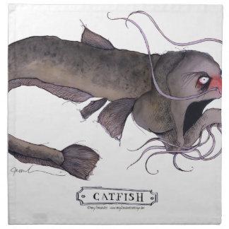 Catfish, tony fernandes cloth napkin
