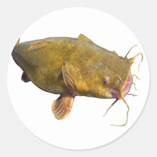 Catfishing Fishing Classic Round Sticker