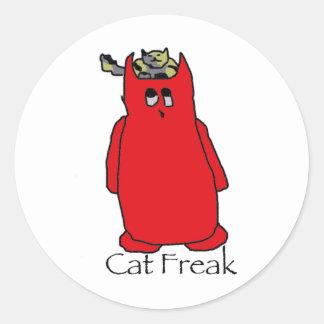 CatFreak Classic Round Sticker