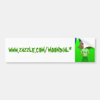 CatGirl, www.zazzle.com/moondial* Bumper Sticker