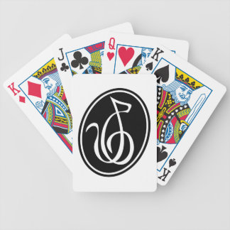 Catgut Strings Treble Clef Logo Bicycle Playing Cards