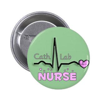 Cath Lab Nurse Gifts Button