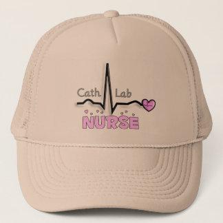 Cath Lab Nurse Gifts Trucker Hat