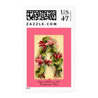 Catharina Klein Flower Alphabet Letter A Postage