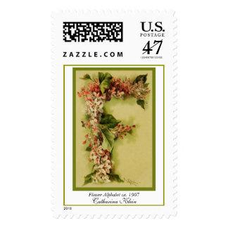 Catharina Klein Flower Alphabet Letter F Postage