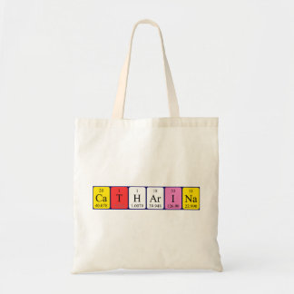 Catharina periodic table name tote bag