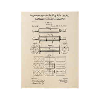 Catharine Deiner Rolling Pin Wood Poster