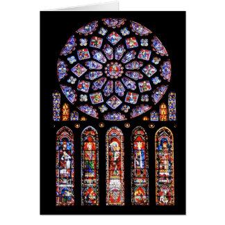Cathdrale Notre-Dame de Chartres Tarjeta De Felicitación