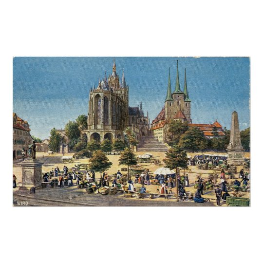 Cathederal Severi Church Erfurt Large Canvas Poster
