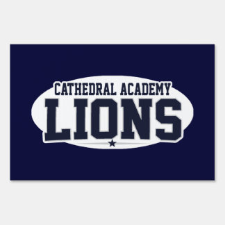 Cathedral Academy; Lions Sign