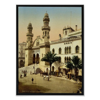 Cathedral, Algiers, Algeria vintage Photochrom Posters