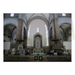 cathedral altar greeting card