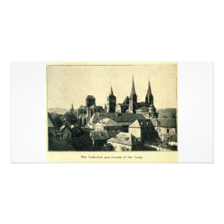 Cathedral and Church of Our Lady Liebfrauenkirche Customized Photo Card