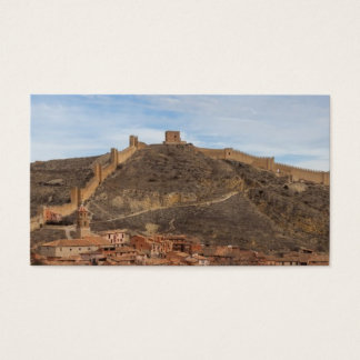 Cathedral and city walls Albarracín, Aragon Spain Business Card