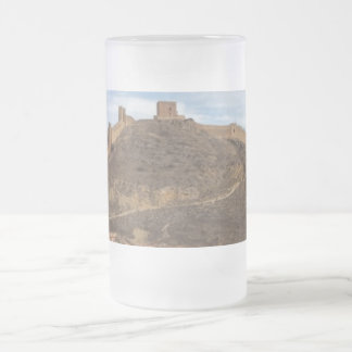 Cathedral and city walls Albarracín, Aragon Spain Frosted Glass Beer Mug