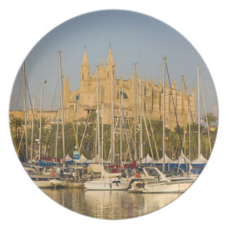 Cathedral and marina, Palma, Mallorca, Spain 2 Dinner Plate