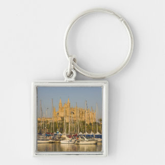 Cathedral and marina, Palma, Mallorca, Spain 2 Keychain